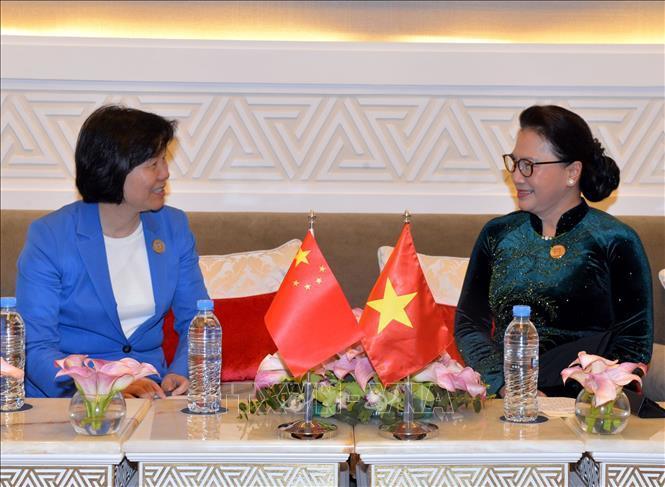 Chủ tịch Quốc hội tiếp Phó Ủy viên trưởng Nhân đại Trung Quốc