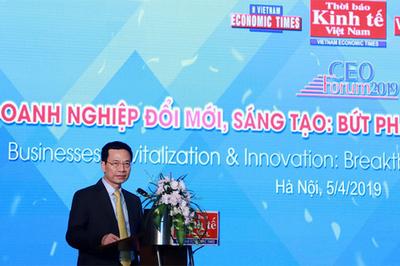 Toàn văn phát biểu của Bộ trưởng Nguyễn Mạnh Hùng tại Diễn đàn CEO 2019