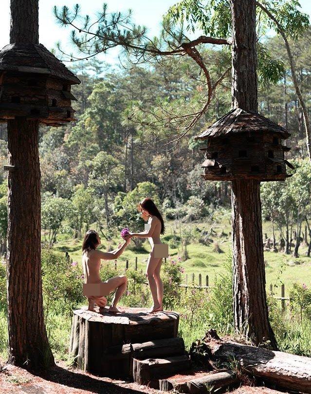 ảnh nude,nghệ thuật ảnh nude,cặp đôi chụp nude tại Đà Lạt