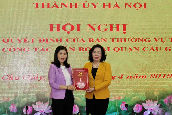 Hà Nội: Quận Cầu Giấy có nữ Bí thư 7x