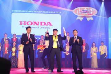 Honda Việt Nam nhận giải Rồng Vàng