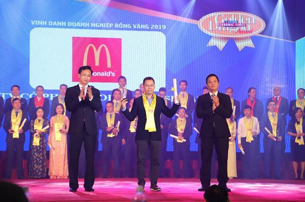 McDonald's Việt Nam nhận giải 'Doanh nghiệp phát triển bền vững'