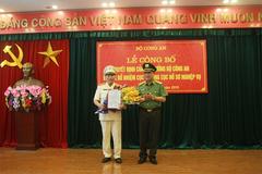 Thiếu tướng Tô Văn Huệ làm Cục trưởng Hồ sơ nghiệp vụ, Bộ Công an
