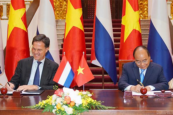 Việt Nam và Hà Lan nhất trí xây dựng quan hệ Đối tác toàn diện