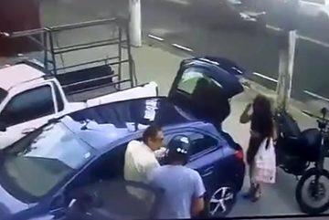 Liều lĩnh tấn công ở bãi đỗ xe, hai tên cướp nhận kết đắng