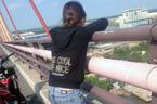 Thượng úy công an tóm chân cứu cô gái định nhảy cầu Cần Thơ
