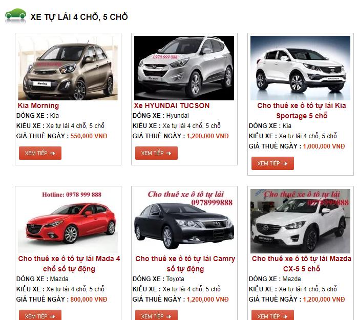 Loạn giá thị trường cho thuê xe tự lái dịp nghỉ lễ