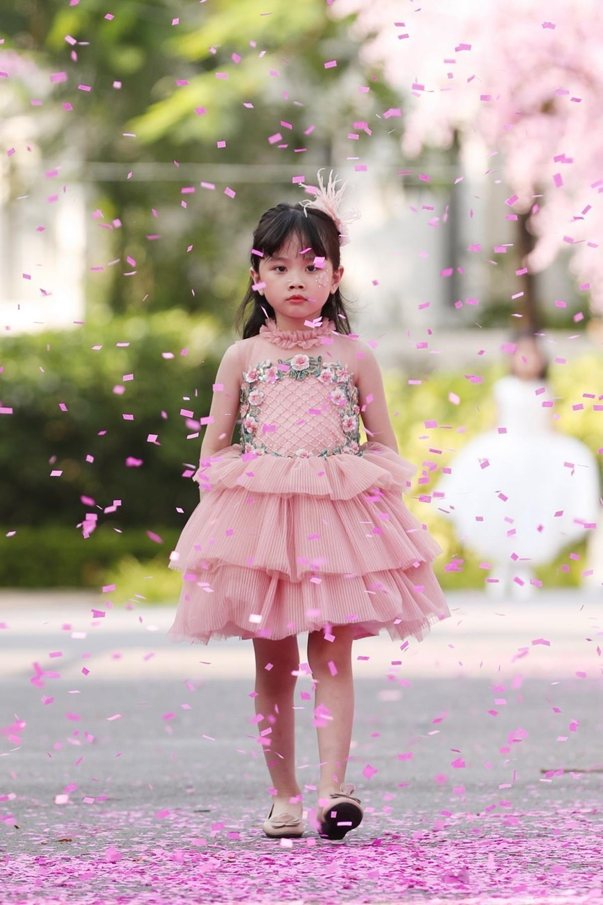 Kids turn angles at Vietnam Junior Fashion Week
