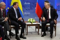 Putin bắt lỗi phiên dịch trong cuộc gặp Thủ tướng Thụy Điển