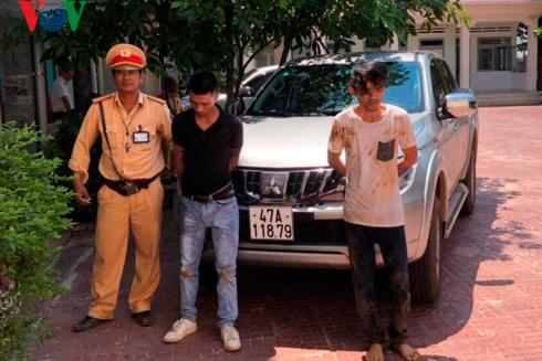 Bắt 2 đối tượng trộm ô tô của trung tâm Y tế ở Quảng Trị