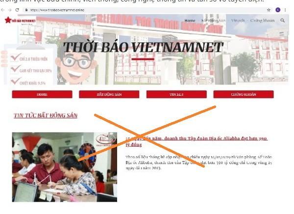 địa ốc Alibaba,xử phạt vi phạm hành chính