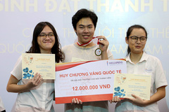 Học sinh lớp 11 giành giải Vàng cuộc thi Nuôi tinh thể quốc tế