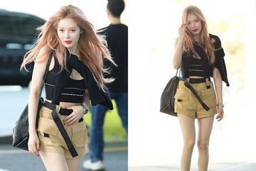 HyunA bị chế giễu vì mặc mát mẻ bất chấp thời tiết