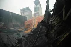Cháy xưởng ở Trung Văn Hà Nội