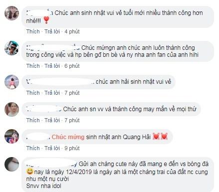 Hà Đức Chinh chúc Quang Hải 'xinh đẹp' trong ngày sinh nhật