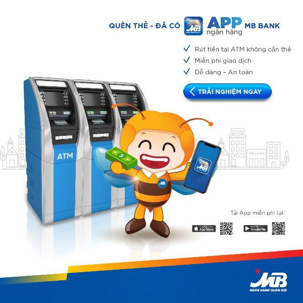 Ứng dụng Mbbank- rút tiền ATM không cần thẻ