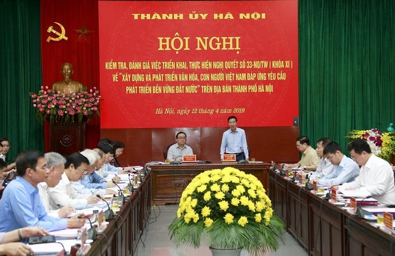 Ông Võ Văn Thưởng kiểm tra việc thực hiện Nghị quyết 33 tại Hà Nội