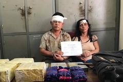 Vợ chồng trưởng bản buôn ma túy, dùng dao chống trả công an