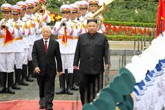 Tổng bí thư, Chủ tịch nước gửi điện mừng Chủ tịch Triều Tiên Kim Jong-un