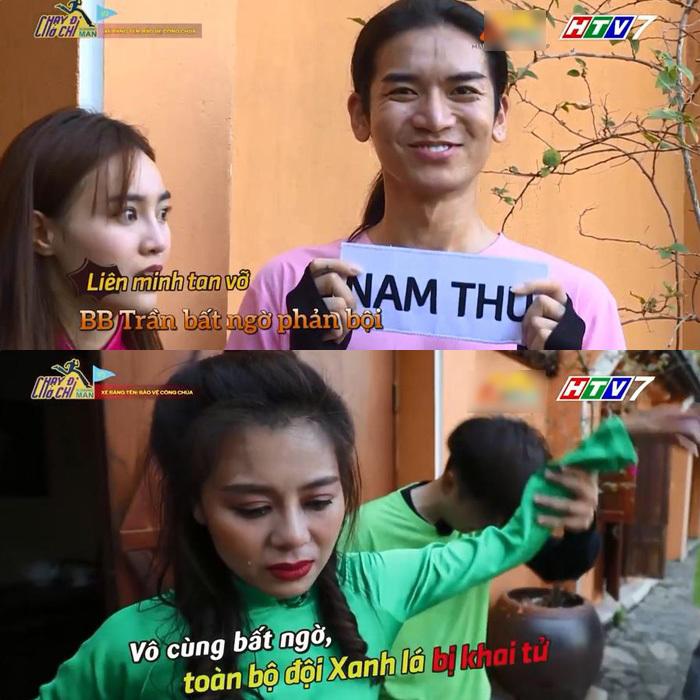 Trấn Thành ngã sấp mặt, Nam Thư bật khóc vì bị BB Trần 'chơi xấu'
