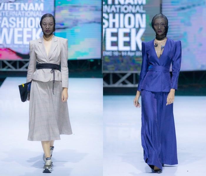 Mẫu nữ đồng loạt đội khăn lưới vẫn mê hoặc trên sàn diễn thời trang