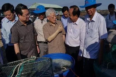 Tổng bí thư, Chủ tịch nước thăm, làm việc tại Kiên Giang