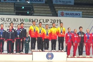 Vietnam strikes three gold medals at Aerobic Suzuki World Cup in Tokyo
