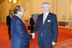 Thủ tướng hội kiến Tổng thống, Chủ tịch Thượng viện Romania