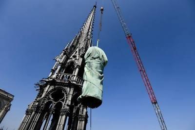 4 ngày cách vụ cháy, ở nhà thờ Đức Bà Paris đã xảy ra sự kiện gì?