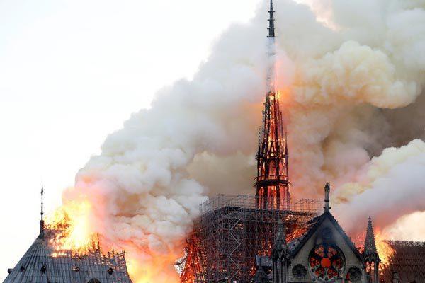 hỏa hoạn,Pháp,Nhà thờ Đức bà