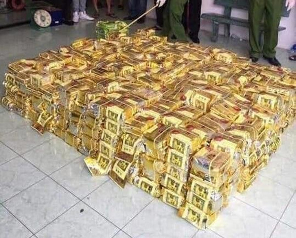 Four arrested as police seize 600 kilos of meth in Nghe An