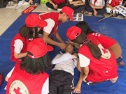 Children's enthusiasm for first aid lessons
