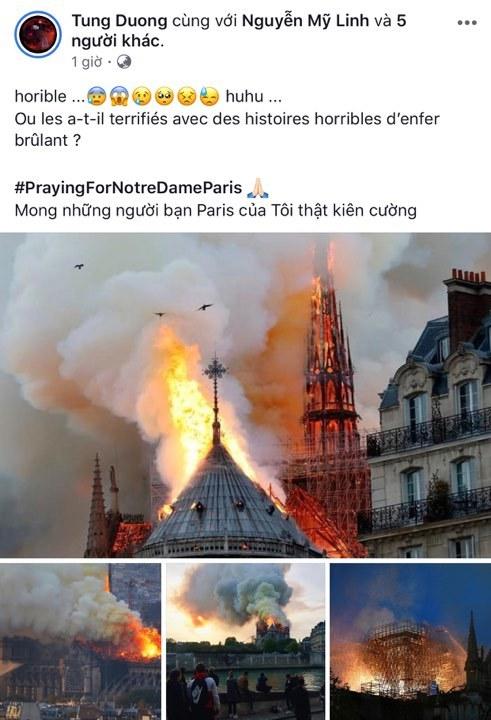 Mai Phương Thúy,Tùng Dương,Cháy Nhà thờ Đức Bà Paris,Ngọc Ánh,Nathan Lee,MC Quỳnh Chi