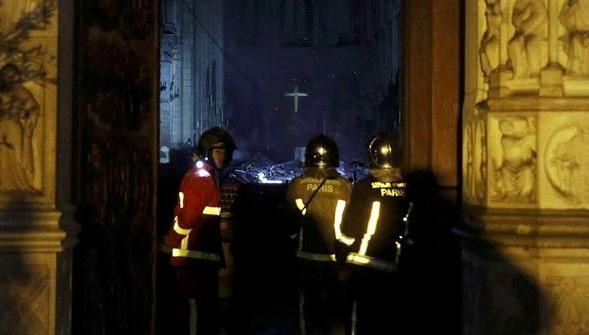 Hình ảnh bên trong Nhà thờ Đức Bà Paris sau hoả hoạn