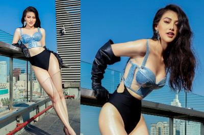Hoa hậu Phương Khánh diện bikini nóng bỏng, khoe chân dài thẳng tắp sau khi giảm 10 kg