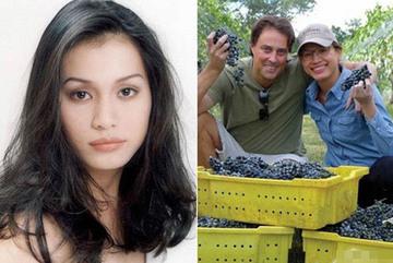 Bỏ hào quang sang Mỹ, Hoa hậu Ngọc Khánh viên mãn sống đời giản dị, trồng nho phụ chồng