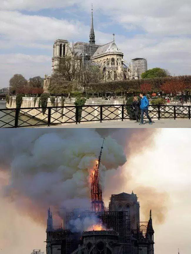 Pháp,hỏa hoạn,Nhà thờ Đức Bà