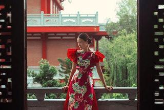 Talented female designer offers ao dai designs