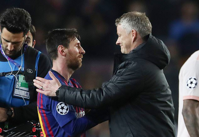MU,Barcelona,Solskjaer,Messi
