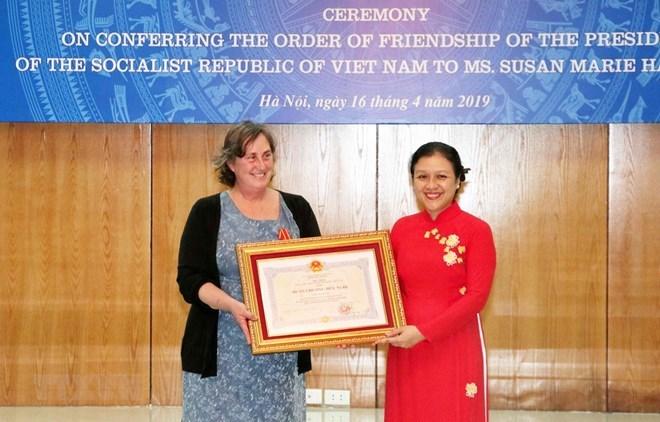 Vietnam honours US woman for Agent Orange relief work