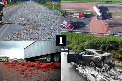 Tài xế khốn khổ với những sự cố hy hữu trên đường cao tốc