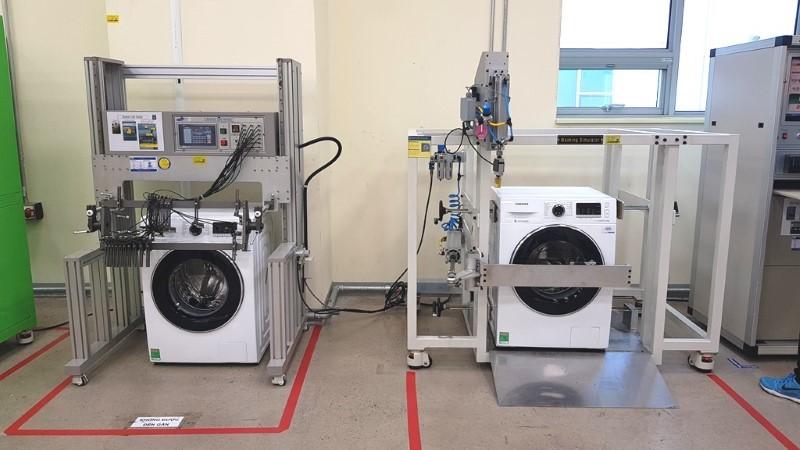 máy giặt gia dụng,kiểm tra độ bền