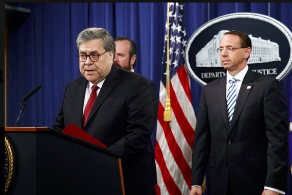 Bộ trưởng Tư pháp Mỹ giải oan cho ông Trump