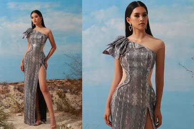 Hoa hậu Tiểu Vy diện váy xẻ cao táo bạo khoe chân dài