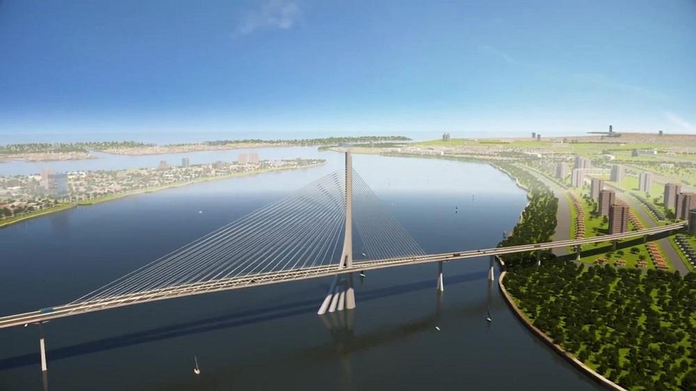 Cầu Cần Giờ có thiết kế dây văng hình cây đước