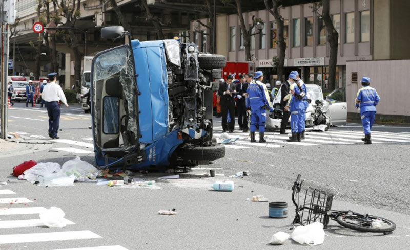 Nhật Bản,tai nạn,ô tô đâm người