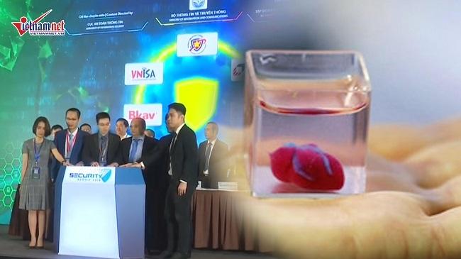 Trái tim 'bằng xương bằng thịt' từ in 3D, VN có liên minh an ninh mạng