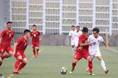 Bị Myanmar chia điểm, U18 Việt Nam vẫn dẫn đầu cúp Tứ hùng
