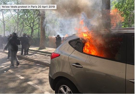 Lửa cháy rực Paris, biểu tình dữ dội tái diễn