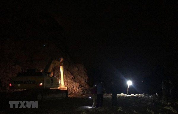 Quang Ninh stone miner died in a rockslide